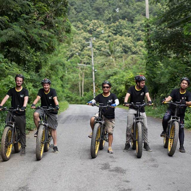 the promotion team | Buzzy Bee Bike, Chiang Mai, Thailand