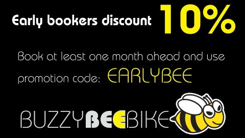 EARLYBEE early bookers discount | Buzzy Bee Bike, Chiang Mai, Thailand