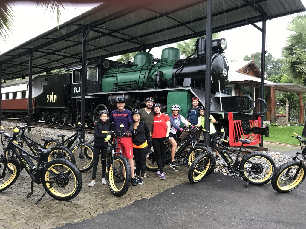 stop at old train | Buzzy Bee Bike, Chiang Mai, Thailand