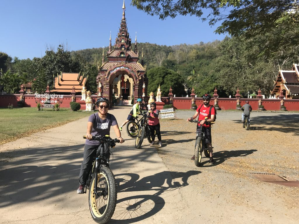 visiting Wat Ban Pong | Buzzy Bee Bike, Chiang Mai, Thailand