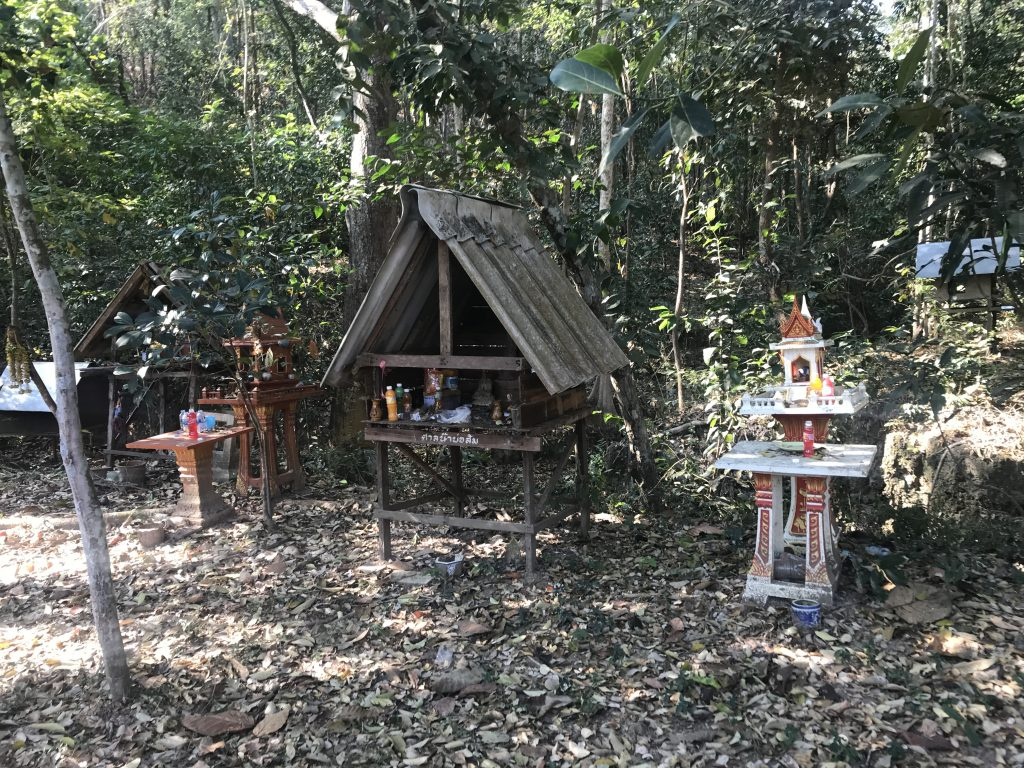 spirit houses on the way | Buzzy Bee Bike, Chiang Mai, Thailand