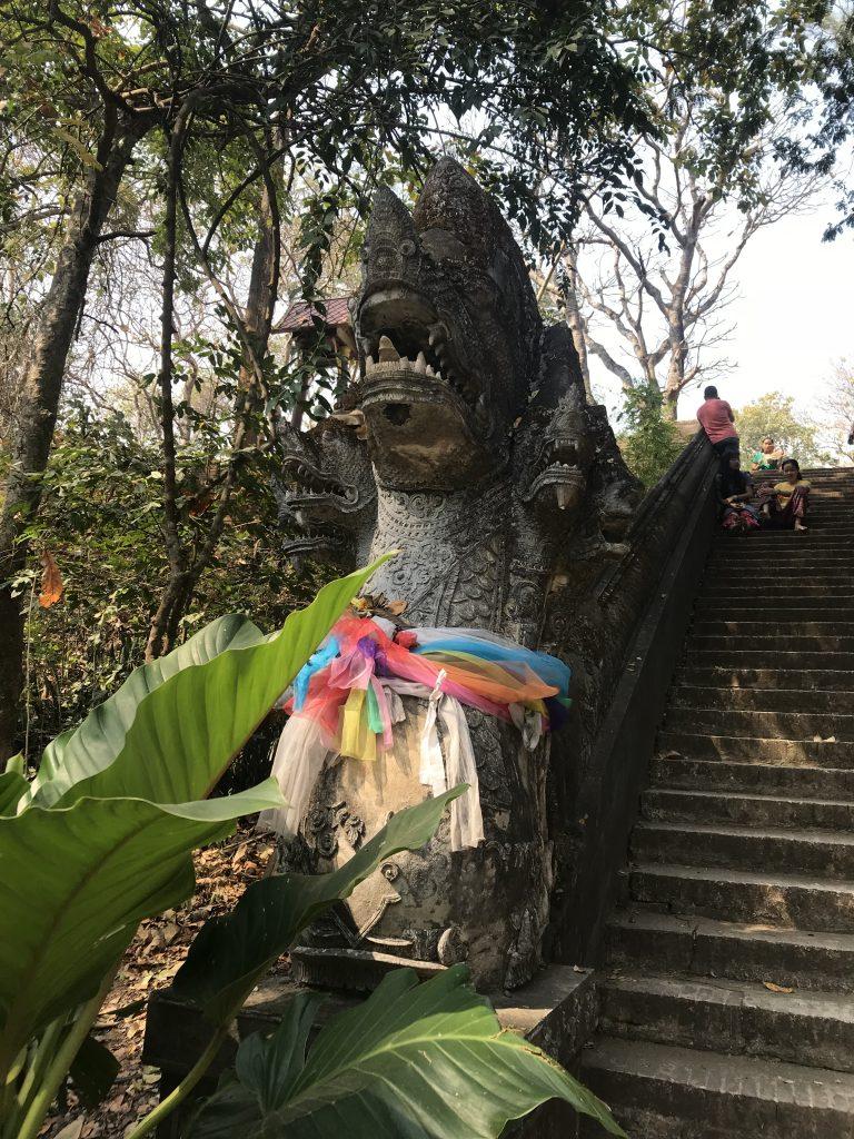 stairs Wat Umong | Buzzy Bee Bike, Chiang Mai, Thailand