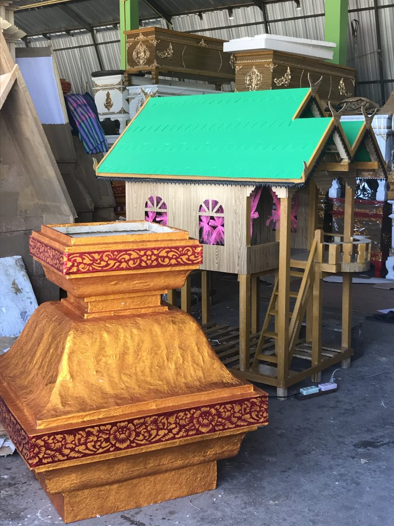 stop at funeral decorations workshop | Buzzy Bee Bike, Chiang Mai, Thailand